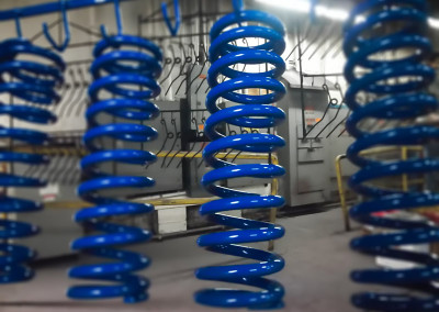 Blue Powder Coated Springs