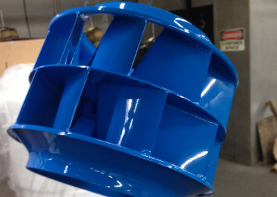 Blue Powder Coated Part Gallery