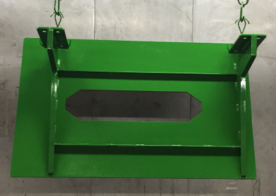 Green Powder Coated Part