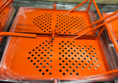 Orange Powder Coat High Gloss Part A&E Powder Coating